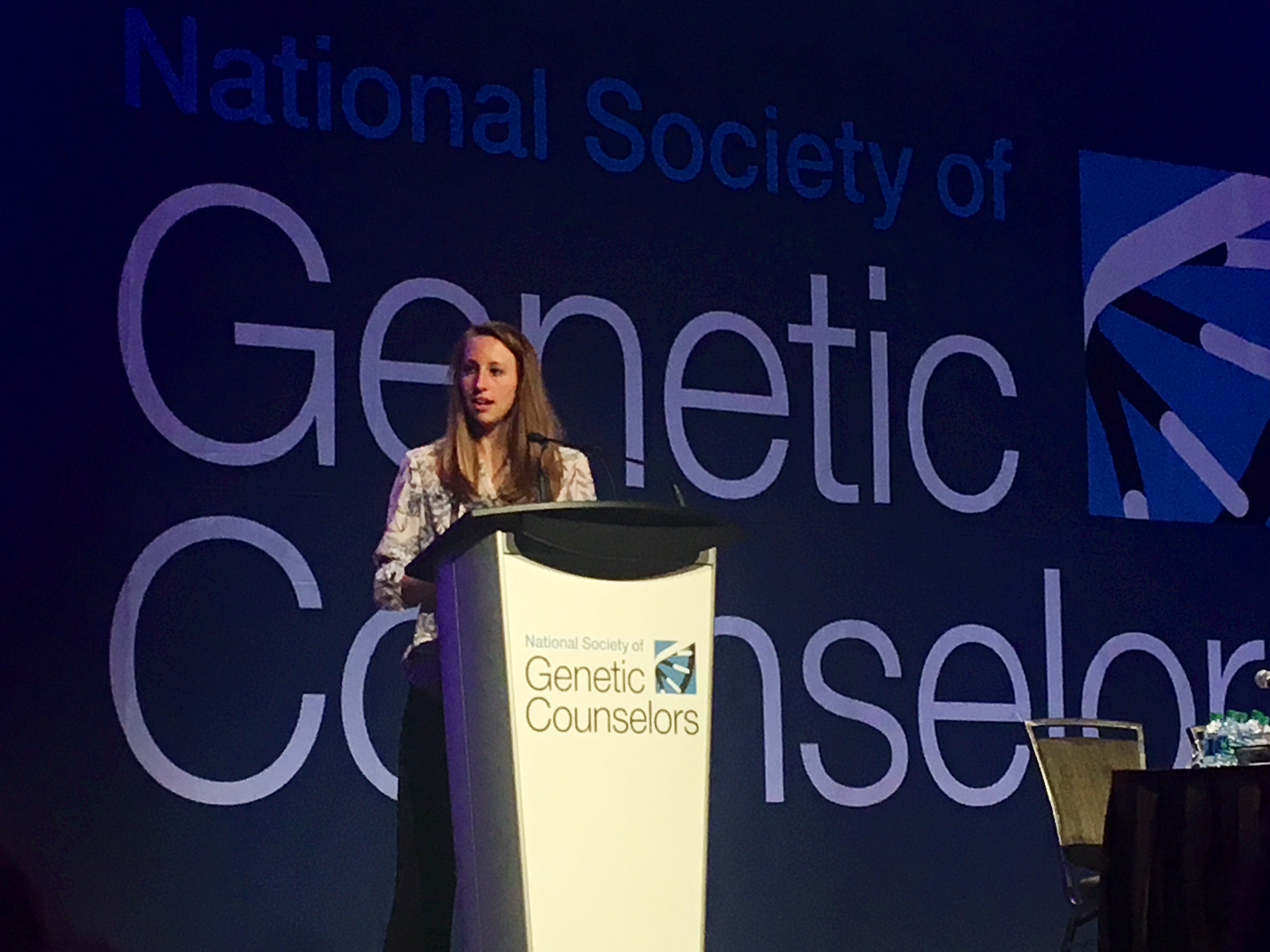 Caitlin Austin, genetic counselor, earns prestigious honor to present at the National Society of Genetic Counselors Annual Education Conference.